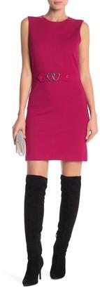 Love Moschino Front Metal Logo Sleeveless Dress