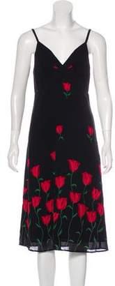 Reformation Printed Sleeveless Dress