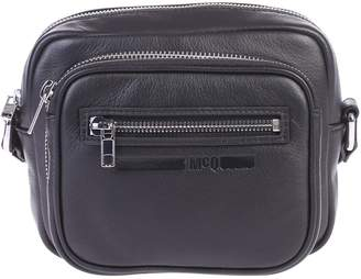 McQ Black Zipped Shoulder Bag