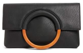 BP Faux Leather Circle Clutch