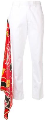 MSGM foulard detail trousers