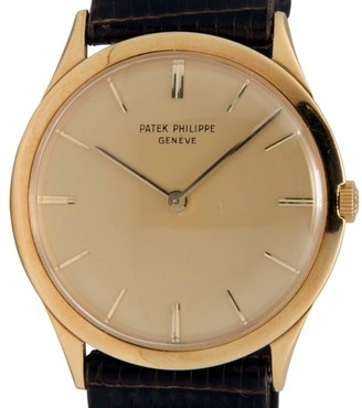 Patek Phillipe 2589 18K Gold Case Gold Tone Dial Hand Winding Mens Watch $7,995 thestylecure.com