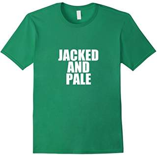 Jacked and Pale Funny Gym T Shirts for Women and Men