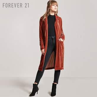 Forever 21 (フォーエバー 21) - オープンフロントベロアロングコート