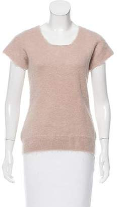 Burberry Short Sleeve Scoop Neck Sweater