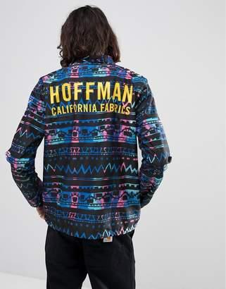 Herschel Hoffman Collab Voyage Coach Jacket with Back Print in Geo-Tribal Print