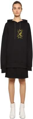 Aalto Apple Print Jersey Sweatshirt Dress