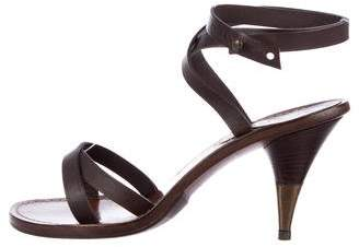 Chanel Leather Wrap-Around Sandals
