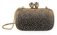 Alexander McQueen Women's Queen & King Embellished Leather Clutch