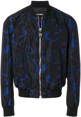 Les Hommes printed bomber jacket