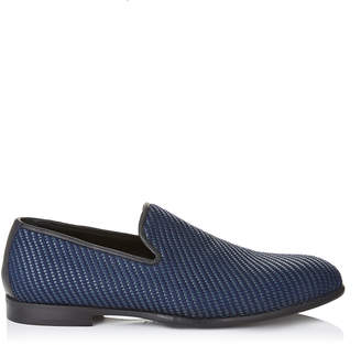 MARLO Navy Mix Woven Fabric Slippers