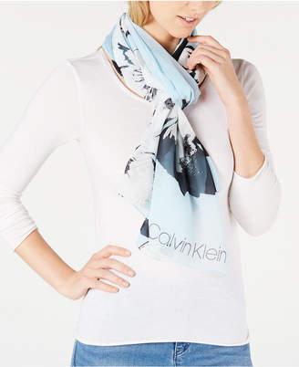 bf43bb61e4 Calvin Klein Blue Women s Scarves - ShopStyle