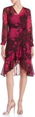 Nanette Lepore Nanette Floral Chiffon Wrap Dress