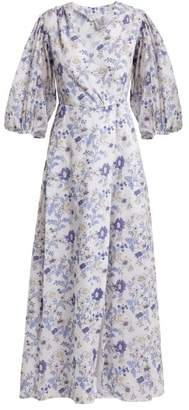 Thierry Colson Phoebe Cotton Maxi Dress - Womens - Blue White