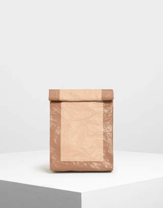 Charles & Keith Paper Bag Clutch