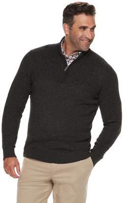Izod Big & Tall Newport Classic-Fit Marled Quarter-Zip Pullover Sweater