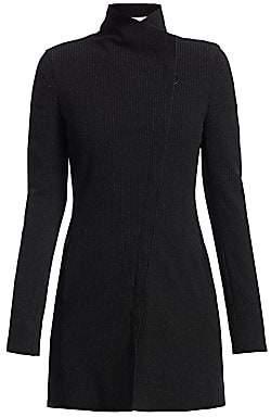 Akris Punto Women's Asymmetric Pinstripe Zip Moto Jacket