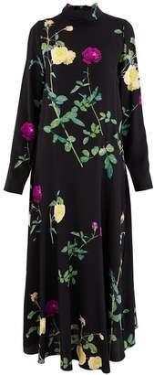 Dries Van Noten Long silk dress