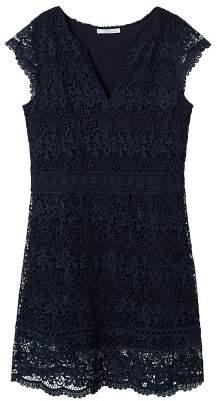Violeta BY MANGO Guipure midi dress