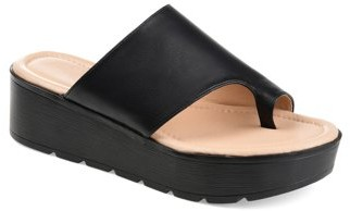 Brinley Co. Womens Comfort Platform Slip-on Sandal