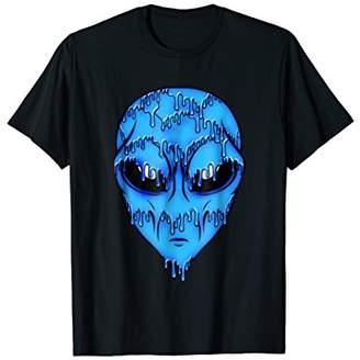 Blue Trippy Alien Shirt - Alien Head T shirt - Alien Face