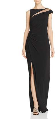 Adrianna Papell Asymmetric Draped Gown