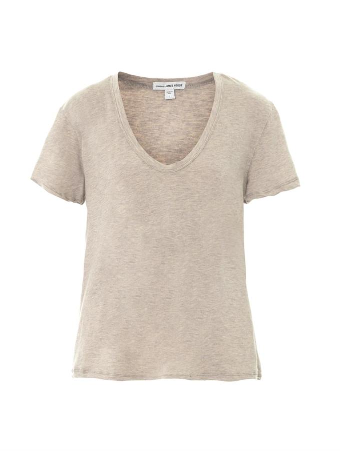 James Perse Cotton and cashmere-blend T-shirt