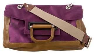 Lanvin Leather-Trimmed Crossbody Bag