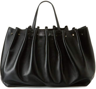 Valentino Bloomy Gathered Calf Leather Tote Bag