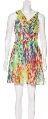 Andrew Marc Printed Silk-Blend Dress