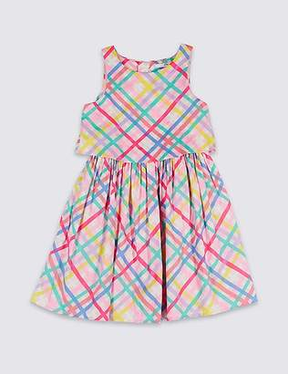 Marks and Spencer Checked Pure Cotton Prom Dress (3-16 Years)