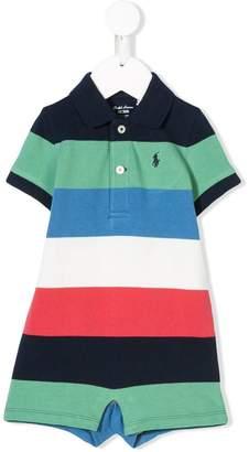 Ralph Lauren Kids colour block polo playsuit