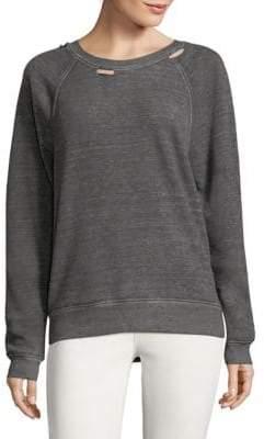 Joe's Jeans Distressed Cutout Sweatshirt