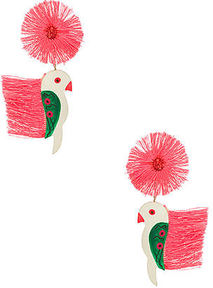 All Things Mochi Punk Parrot Earrings
