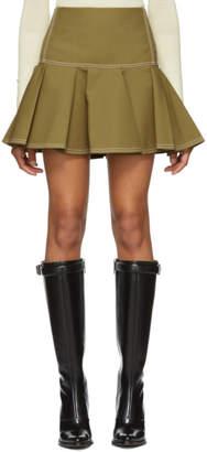 Chloé Green Ruffled Miniskirt