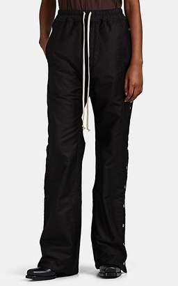 Rick Owens Women's Cotton Twill Drawstring Snap-Side Pants - Black