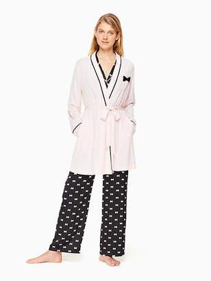 Kate Spade Jersey blend bow robe