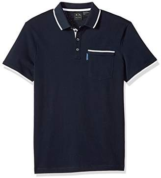 Armani Exchange A|X Men's Short Sleeve Polo Shirt