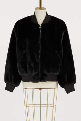Chiara Ferragni Logo faux fur jacket