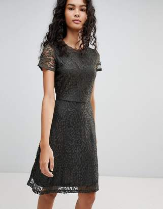 Only Mystery Lace Skater Dress