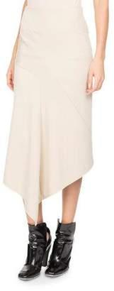 Atlein Jersey Asymmetric Midi Skirt