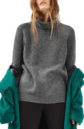 Women's Topshop Oversize Turtleneck Sweater $75 thestylecure.com