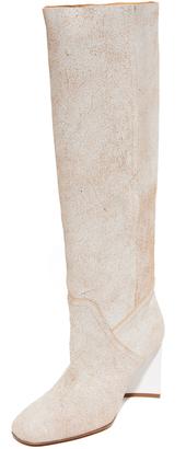Maison Margiela Shaft Boots $1,580 thestylecure.com
