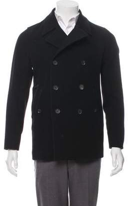 Theory Wool Double-Breasted Peacoat