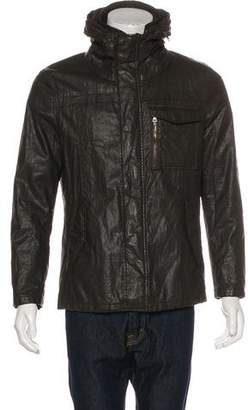 John Varvatos Waxed Linen Jacket