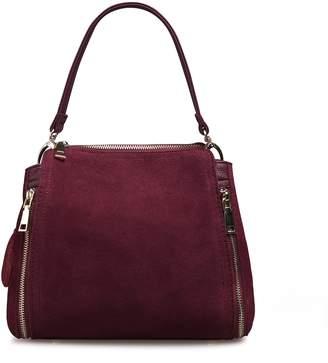 Nico louise Women Real Suede Leather Shoulder Bag Leisure Doctor Handbag For Female Girls Top-handle