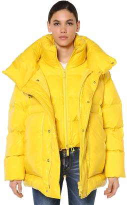 DSQUARED2 LAYERED NYLON DOWN JACKET