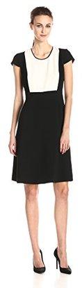 Jones New York Women's Color-Block A-Line Dress $98 thestylecure.com