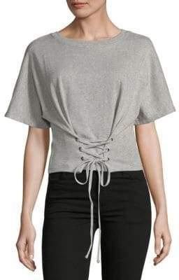 MinkPink Short-Sleeve Cotton Sweat Top