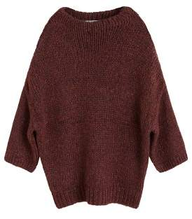 Metal thread sweater